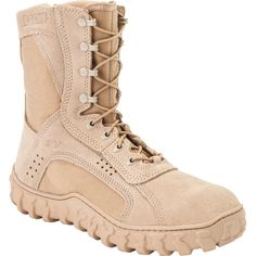 Rocky S2V Mens Desert Tan Leather Dry Combat Tactical Military Boot
