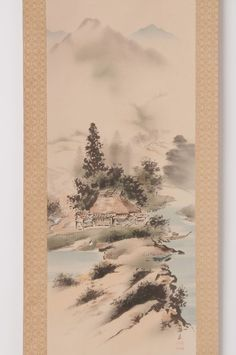 Check out Japanese hanging scroll Landscape painting on silk by Baiyu Mori Antique hs0627  http://www.ebay.com/itm/Japanese-hanging-scroll-Landscape-painting-on-silk-by-Baiyu-Mori-Antique-hs0627-/122007534527?roken=cUgayN&soutkn=x6V2ls