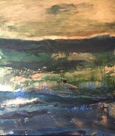 """ Emerald Love "" Available @ Aldo Castillo Gallery FL / USA for ArtSpot Miami International Art Fair 2016 # Contemporary Art # Abstract landscape"
