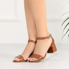 Riberto Taba Rengi Kalın Topuklu Kadın Ayakkabı #tan #brown #sandals #heels Tabata, Sandals, Heels, Fashion, Heel, Moda, Shoes Sandals, Fashion Styles, Tabata Workouts