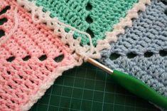 #crochet, free pattern, tutorial, granny square, joining grannies, #haken, gratis patroon (Engels), grannies aan elkaar haken, #haakpatroon