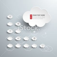 Vector illustration of cloud computing template Royalty Free Stock Vector Art Illustration