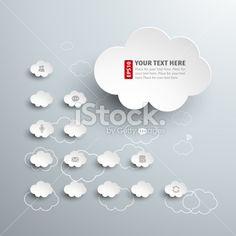 Vector illustration of cloud computing template Royalty Free Stock Vector Art Illustration