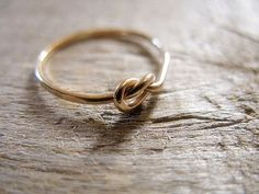 "Knot Ring 14k Gold Fill. $18.00, could give as bridesmaid gifts for ""helping to tie the knot"" good alternative for brides with smaller budgets"