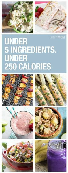 20 dinners under 250 calories with 5 ingredients or less