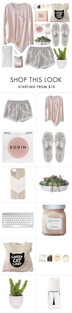 """""""Lazy Sunday Morning"""" by silverwithgold ❤ liked on Polyvore featuring H&M, Clu, Rodin, Novelty, VesseL, The Body Shop, Laura Mercier, Korres, Lux-Art Silks and Christian Dior"""