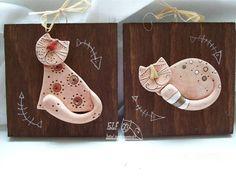 obrázek kočička / Zboží prodejce elf | Fler.cz Clay Crafts, Diy And Crafts, Fire Clay, Pottery Sculpture, Ceramic Animals, Salt Dough, Some Ideas, Polymer Clay Jewelry, Clay Art