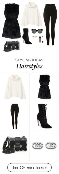 """""""Untitled #1805"""" by alex-gucka on Polyvore featuring Forever Unique, MANGO, Topshop, Steve Madden, Prada, Gucci and Wet n Wild"""