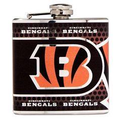 Stainless NFL Flask - Cincinnati Bengals