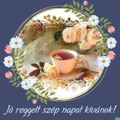 Montage Photo, Good Morning, Tea Cups, Photos, Tableware, Golden Crown, Buen Dia, Pictures, Dinnerware