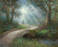 Path of Peace by Jon McNaughton      guardian angel, bridge of faith