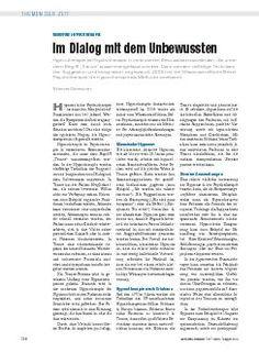 Moderne Hypnotherapie: Im Dialog mit dem Unbewussten (10.08.2013)