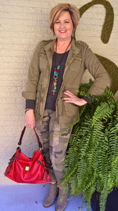 Fashion over 40 for everyday women.  Camo the right way