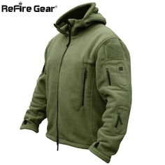 955a504c65b US Military Man Fleece Tactical Jacket