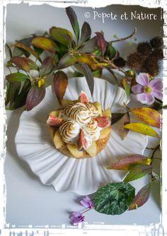 Sablé meringué aux noisettes pommes-cannelle et figues fraîches © Popote et Nature