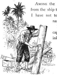 An image from Robinson Crusoe Written Anew for Children by James Baldwin, Daniel Defoe