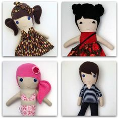 Koko & Joey, makers of kids toys, star in today's midweek member montage. Karen sews soft dolls full of personality. Each unique doll is lovingly created. Karen also has a range of library bags and personalised handmade gifts for kids.