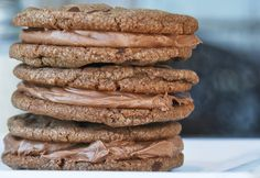 Gonna Want Seconds - Nutella Sandwich Cookies with a Creamy Nutella Filling!