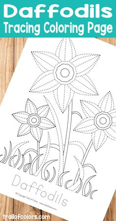 Today I made this Daffodils Tracing Coloring Page for Kids. This tracing coloring page is ideal for practicing fine motor skills and prewriting skills.
