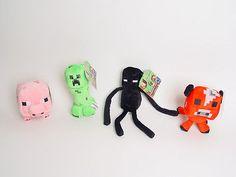 Set Of 4 Minecraft Creeper, Enderman, Animal Pig,Mooshroom 7