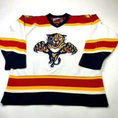 Florida Panthers NHL Youth Navy Blue CCM Team Hockey Jersey 3f17354c0