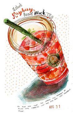 1 shot Raspberry iced black tea, Kristin Nohe