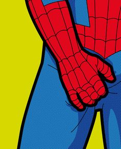 The secret life of heroes - SpiderItch Art Print It's gotta be itchy down there. Especially since its a very tight suit.