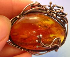 j9 Super-Colour Multi-Color Honey Cognac Natural Baltic Amber brooch jewelry 17g