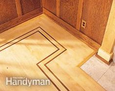 Border detail - how to install a contrasting border frame by the Family Handyman