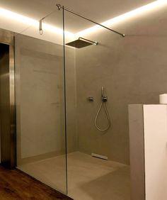 Spachtelputz Im Bad Badezimmer Pinterest Putz Betonoptik Und - Badgestaltung mit fliesen und putz