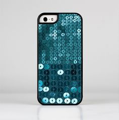 The Teal Sequences Skin-Sert for the Apple iPhone 5-5s Skin-Sert Case