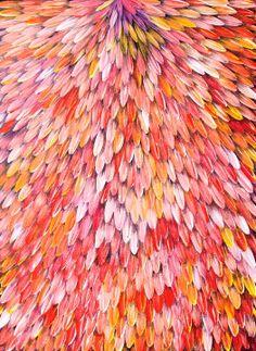 Colour inspiration board pink - Aboriginal Art