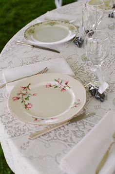 vintage china....  All different patterns!  As it should be!!