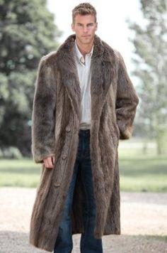Men's Dominic Full-Length Double-Breasted #Longhaired #Beaver #Fur #Coat $4,375.00