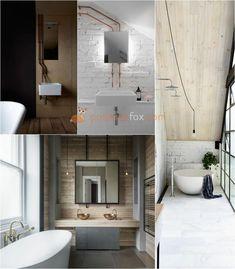 Best Loft Ideas - Loft Interior Design Ideas With Best Photos Loft Bathroom, Bathroom Floor Tiles, Bedroom Loft, White Bathroom, Small Bathroom, Bathroom Ideas, Loft Interior Design, Loft Design, Bathroom Interior Design
