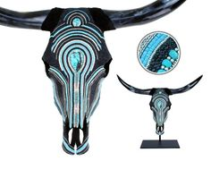 Turquoise and Silver Longhorn