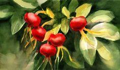 Flowers in watercolor by Krzysztof Kowalski.