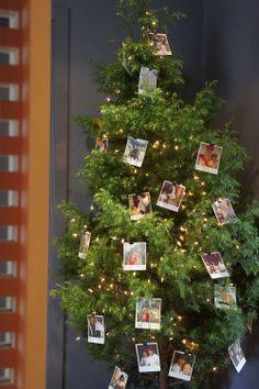 O charme de uma árvore de fotos. Veja mais: http://www.casadevalentina.com.br/blog/materia/ceia-da-rvore.html  #decor #details #interior #design #decoracao #detalhes #charm #christmas #natal #casadevalentina