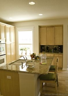 Traditional Light Wood Kitchen Cabinets #54 (Kitchen Design Ideas.org) Part 65
