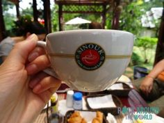 Leider nur mittelmäßiger Kaffee vom Sinouk Coffee Resort in Pakxong (Nähe Paksé), Laos