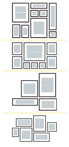 Conceição Lopes Interior Design arranging of a gallery wall Picture Arrangements, Photo Arrangement, Gallery Wall Layout, Bedroom Decor, Wall Decor, Decoration Inspiration, Hanging Pictures, Geometric Patterns, Frames On Wall