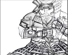 Dwarven Samurai - character sketch