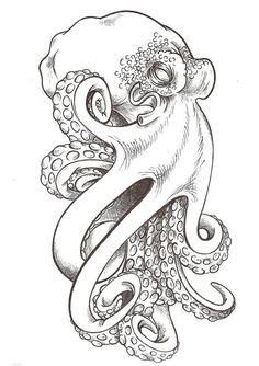 Octopus drawings beautiful tattoo ideas on tattoo octopus drawings Octopus Tattoo Sleeve, Octopus Tattoos, Octopus Tattoo Design, Sleeve Tattoos, Tattoo Designs, Cute Octopus Tattoo, Tattoo Ideas, Tattoo Drawings, Body Art Tattoos
