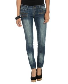 Multi Zipper Front Skinny Jeans from WetSeal.com