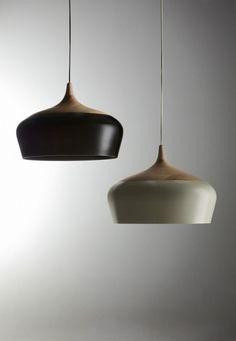 Wood light fixture with Black or White accent