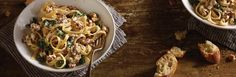 Rich and flavorful, this pasta recipe combines Jimmy Dean® Pork Sausage with spinach, garlic, and Alfredo sauce to create a dinner that really sings.