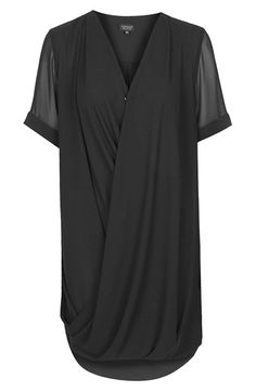 Topshop Drape Front Tunic Dress (Regular & Petite) | Nordstrom