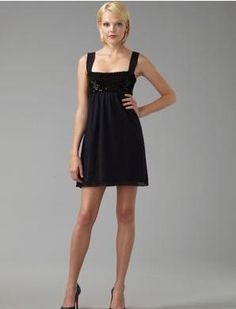 Little black dress. This is so cute