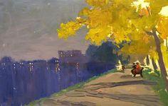 "bofransson: ""SERGEJ PANKRATOV - Autumn evening - Saint Petersburg """