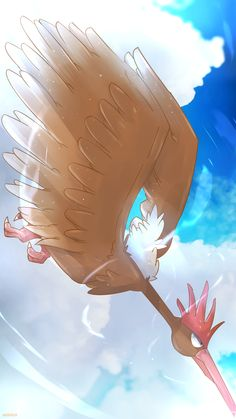 Day 371 - Onidrill   オニドリル   Fearow Like a drill that pierces the sky, Onidrill can reach speeds high enough to blow clear through a boulder. Onidrill's wide wingspan makes a sound so droning, you...